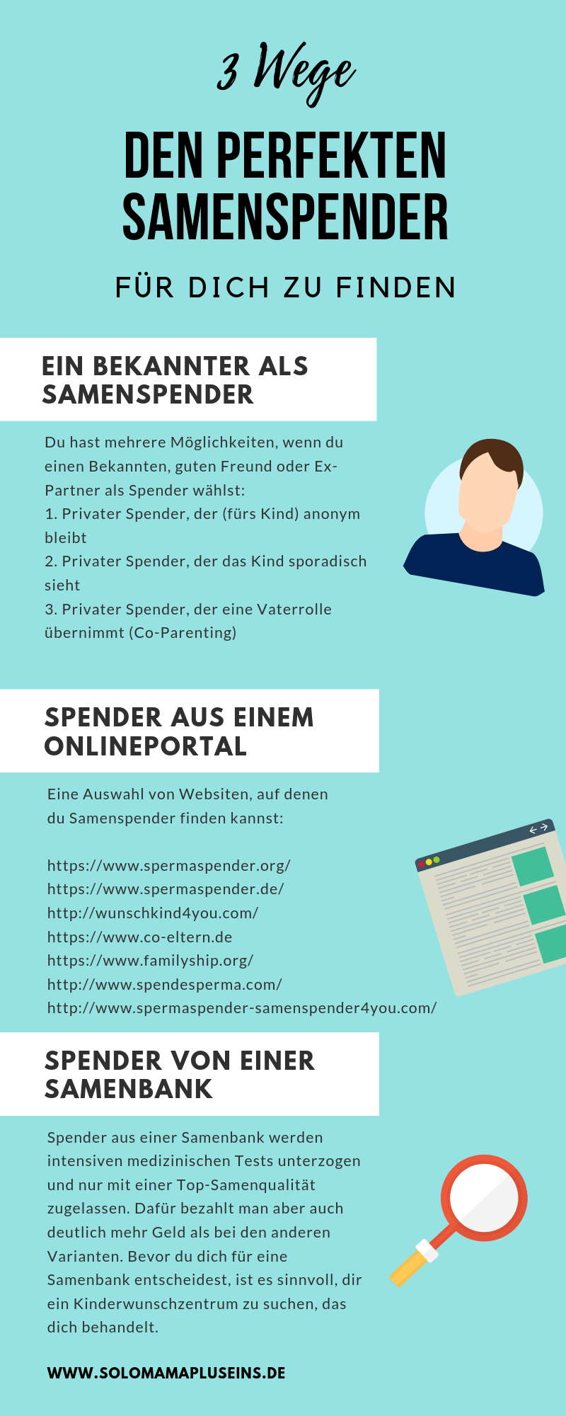 3 Wege den perfekten Samenspender zu finden   www.solomamapluseins.de