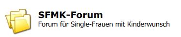 Logo des sfmk-forum.de für Single-Frauen mit Kinderwunsch