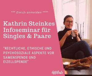 Kathrin Steinke Infoseminar über rechtliche, ethische und psychosoziale Aspekte von Samenspende und Eizellspende. Online über Zoom und persönlich. {affiliate}