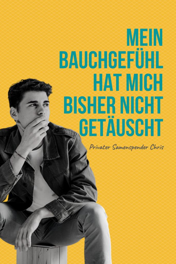 Privatspender Chris: Mein Bauchgefühl hat mich bisher nicht enttäuscht   www.solomamapluseins.de